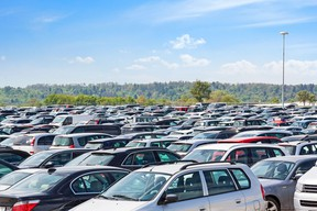 Airport parking lots are being filled with vehicles from car rental companies looking to dispose of excess inventory.