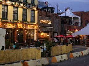 City staff recommend allowing patios on sidewalks and roads to have the option of staying open later this year as a way to help small businesses cope with the economic disaster created by the COVID-19 pandemic. Council will vote on the matter on March 10, 2021.