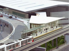 A new rendering of the Ottawa airport Trillium Line station.