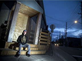 Jason McLelland, chef and owner of Grunt, outside the Hinchey Avenue restaurant on Sunday, Dec. 13, 2020.