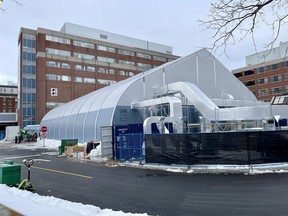 Temporary hospital unit opens a…