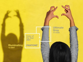 The influential Pantone Color Institute has chosen two colours of the year for 2021, a cheery yellow called Illuminating and a grounded grey called Ultimate Gray.