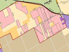 A map produced by the City of Ottawa illustrates which areas of rural-east land, west of Boundary Road, are owned by the Algonquins of Ontario. The Algonquin-owned lands are in pink.
