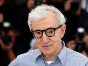 "Director Woody Allen poses during a photocall for the film ""Cafe Society"" out of competition, before the opening of the 69th Cannes Film Festival in Cannes, France, May 11, 2016."