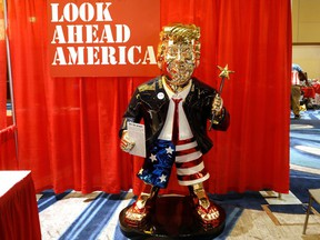 A statue of former U.S. President Donald Trump is pictured at the Conservative Political Action Conference (CPAC) in Orlando, Florida, U.S. February 26, 2021.