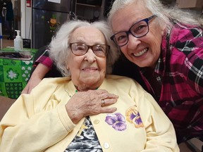 Rose Anne Reilly's mother, Rose, died on New Year's Day at the age of 104.