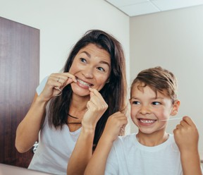 Flossing regularly is important and creates a healthy environment for your teeth.