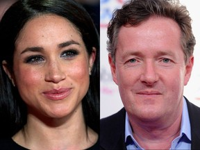 """""""Well hello there - thanks for the follow,"""" Meghan Markle wrote to Piers Morgan on Twitter. """"Big fan of yours!"""""""
