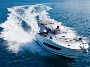 The luxury of the cabin cruiser is just what's needed for extended trips on the water.