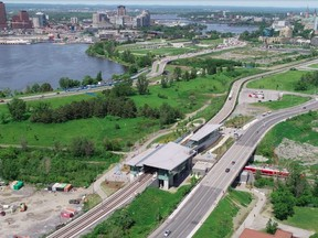 LeBreton Flats, looking east over Bayview Station.