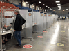 There were no lineups to get the AstroZeneca vaccine at Bob Birnie Arena in Pointe Claire, outside Montreal on Tuesday, April 13.