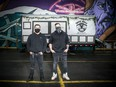 Left to Right Luis Guerra and Moudy Husseini of Torta Boyz, a new food truck in the Preston Street area.