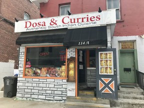 An exterior photo of the Gloucester Street restaurant Dosa & Curries.