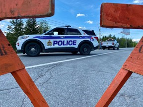 An 18-year-old man was rushed to hospital with serious injuries following a collision between the motorcycle he was riding and a truck, according to police and paramedics. The collision happened on Dunrobin Road near the intersection of Thomas A. Dolan around noon Saturday, May 15, 2021.   Few details were immediately available from the scene. Sections of Dunrobin Road were closed while police investigated. Paramedics said the man was rushed to hospital with serious, possibly life-threatening injuries.
