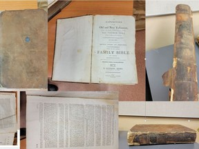 The Lennox and Addington County Detachment of the Ontario Provincial Police are seeking the public's assistance in identifying the owner of these historical texts.