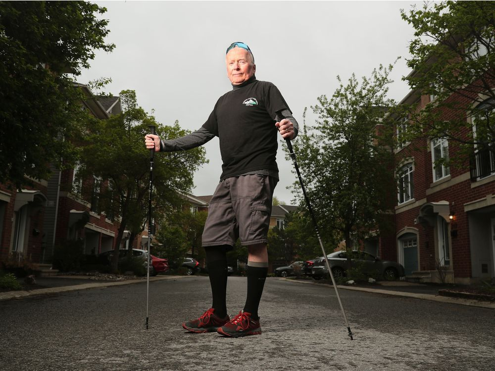 Michael Baine has stage four prostate cancer that has spread to his bones and hips. Despite that, he's walking 21 kilometres as part of Ottawa Race Weekend to raise money for The Ottawa Hospital Cancer Centre.