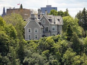 24 Sussex Drive as seen from Rockcliffe Park. The repair bills, according to the NCC, are staggering.