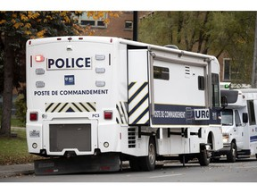 The Bureau des enquetes independantes, its command post pictured in a file photo from Montreal, is investigating a collision  in Pontiac.