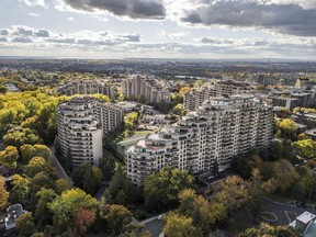 The pyramids of Le Sanctuaire du Mont-Royal introduced a new housing concept to Montreal: the condominium.  SUPPLIED