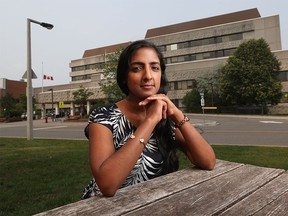 Dr. Nisha Thampi is seen in front of CHEO in Ottawa Monday July 19, 2021. Nisha is an author of a new science table study about the return to school.