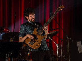 Quebec City bassist Carl Mayotte was a hometown favourite when he closed the 2021 Festival Quebec Jazz en Juin with his hard-hitting fusion band.
