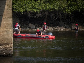 Emergency services were at the Gatineau River by the Wakefield covered bridge on Sunday, July 25, 2021, after a swimmer did not resurface. The La Peche fire department had a boat on the water combing the scene looking for the missing swimmer.