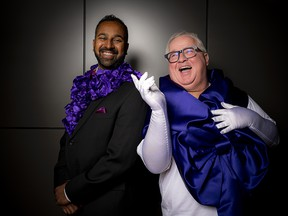 Delan De Silva, Purple Tie Gala committee member and Joseph Cull, Cornerstone's Purple Tie Gala host, are excited for the special event to support and raise awareness for women's homelessness, which will be held Saturday, Oct. 2.