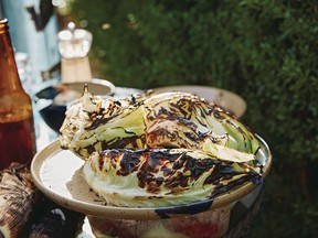 Grilled cabbage with chili garlic butter from Chasing Smoke.