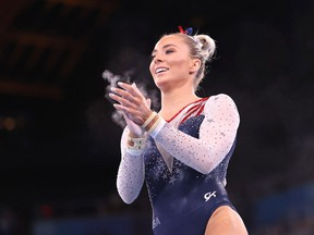 Mykayla Skinner of Team United States competes in the Women's Vault Final on day nine of the Tokyo 2020 Olympic Games at Ariake Gymnastics Centre on August 01, 2021 in Tokyo, Japan.
