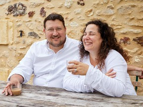 Chefs Sarit Packer, right, and Itamar Srulovich are the founders of Honey & Co. in London, England and the authors of four cookbooks.