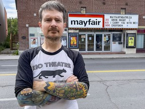 Mayfair Theatre's Josh Stafford and other co-owners were surprised to learn that the building housing their business was recently listed for sale.