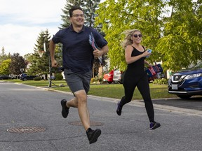 OTTAWA - Carleton riding Conservative candidate Pierre Poilievre was campaigning in Stittsville on election day. Monday, Sep. 20, 2021. ERROL MCGIHON, Postmedia