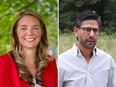 Jenna Sudds, left, and Yasir Naqvi are the new federal Liberal faces in Ottawa.