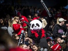 File photo/ The annual Panda Game between the uOttawa Gee-Gees and the Carleton Ravens.