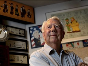 Mort Walker is shown in a file photo from August 2010. His death at age 94 was announced Saturday.