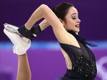 Kaetlyn Osmond of Canada competes in the figure skating team event women's short program on Sunday.