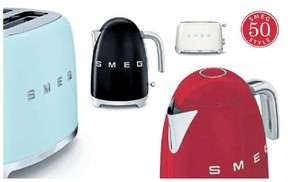 You're so '50s! Colour your kitchen with Smeg appliances from Italy.