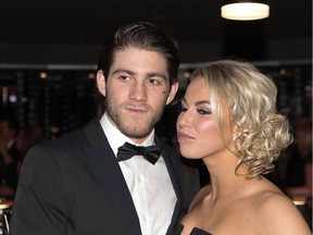 Mike Hoffman and  girlfriend Monica Caryk.  Tony Caldwell