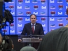 Ottawa Senators General Manager Pierre Dorion during his year end press conference. April 12,2018. Errol McGihon/Postmedia