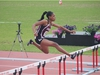 Sharelle Samuel competing in the senior girls' 400m hurdles at the OFSAA Track and Field Championships. Photo credits: Amber Huang -- Ashbury College Student