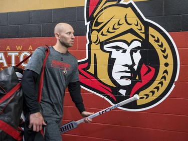 Ottawa Senators goaltender Craig Anderson walks the halls of the Canadian Tire Centre on the first day of training camp. September 13, 2018.