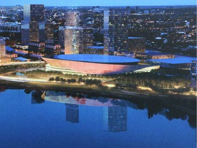 The RendezVous LeBreton proposal is partially seen here in architectural renderings.