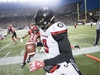 Calgary Stampeders running back Don Jackson (25) tries to catch Ottawa Redblacks defensive back Jonathan Rose (9) during the first half of the 106th Grey Cup in Edmonton, Alta. Sunday, Nov. 25, 2018. THE CANADIAN PRESS/Darryl Dyck ORG XMIT: JOHV131
