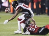 Ottawa Redblacks wide receiver Diontae Spencer (85) fumbles the ball on a punt return as Calgary Stampeders linebacker Riley Jones (52) grabs on to him during the second half of the 106th Grey Cup in Edmonton, Alta. Sunday, Nov. 25, 2018. THE CANADIAN PRESS/Jason Franson ORG XMIT: JOHV195