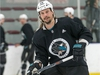 San Jose Shark Erik Karlsson practiced at the University of Ottawa athletic facility in advance of his first game against his old team, the Ottawa Senators, at Canadian Tire Centre on Saturday.   Photo by Wayne Cuddington/ Postmedia