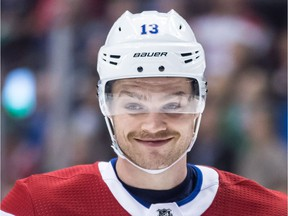 The Canadiens' Max Domi, above, and the Senators' Zack Smith have been waging a personal battle during the past two games between Montreal and Ottawa.