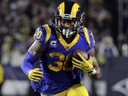 In this Dec. 16, 2018, Los Angeles Rams' Todd Gurley carries the ball during an NFL football game against the Philadelphia Eagles in Los Angeles. (AP Photo/Jae C. Hong, File)