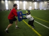 The Carleton Jr. Ravens, a youth football development academy at the Carleton University Fieldhouse Sunday Feb. 24, 2019.   Ashley Fraser/Postmedia