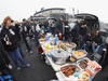 CHICAGO, ILLINOIS - APRIL 05: Fans tailgate before the season home opening game between the Chicago White Sox and the Seattle Mariners at Guaranteed Rate Field on April 05, 2019 in Chicago, Illinois. (Photo by Jonathan Daniel/Getty Images)