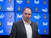 Ottawa Senators general manager Pierre Dorion addresses the media at an end of season press conference at Canadian Tire Centre in Ottawa on April 9, 2019. Errol McGihon/Postmedia